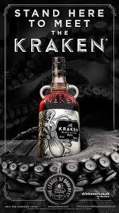 kraken rum - carrefour - ceramic bottle