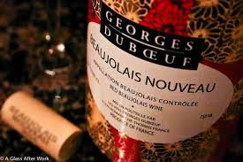 beaujolais nouveau - affiche 2020 - aperitif dinatoire